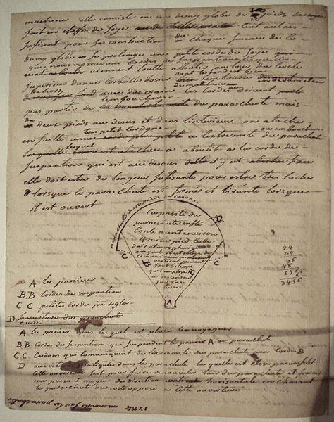 Manuscript_of_Montgolfier_1784